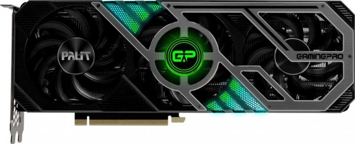 Palit PCI-Ex GeForce RTX 3080 GamingPro 10GB GDDR6X (320bit) (1440/19500) (HDMI, 3 x DisplayPort) (NED3080019IA-132AA) - изображение 1