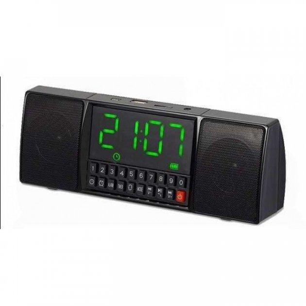 Портативна колонка Годинник USB Радіо, Bluetooth WS-1515 BT - зображення 1