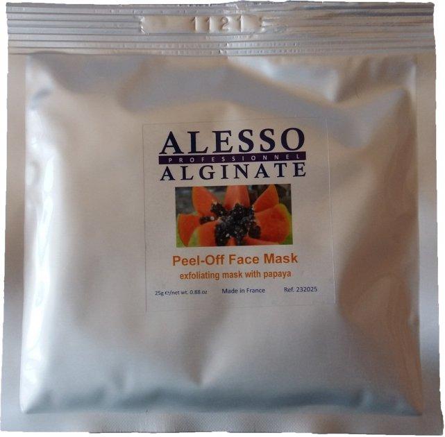 Альгинатная маска для лица Alesso с Папайей глубоко очищающая и отшелушивающая 25 г (3273629232177) - изображение 1