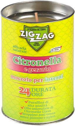 Свечка-репеллент Zig Zag Indoor Candle Citronella and Geranium 100 г (8004235002510) - изображение 1