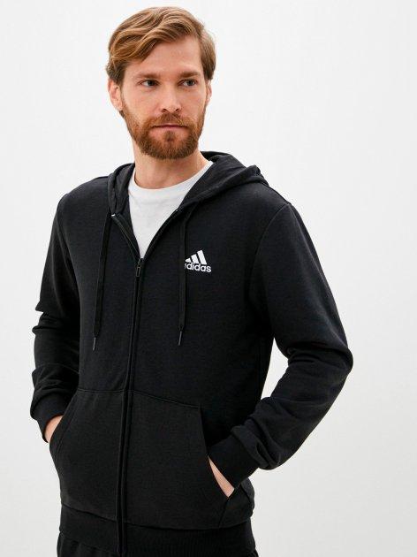 Толстовка Adidas M Bl Ft Fz Hd GK9044 S Black/White (4064045156982) - зображення 1