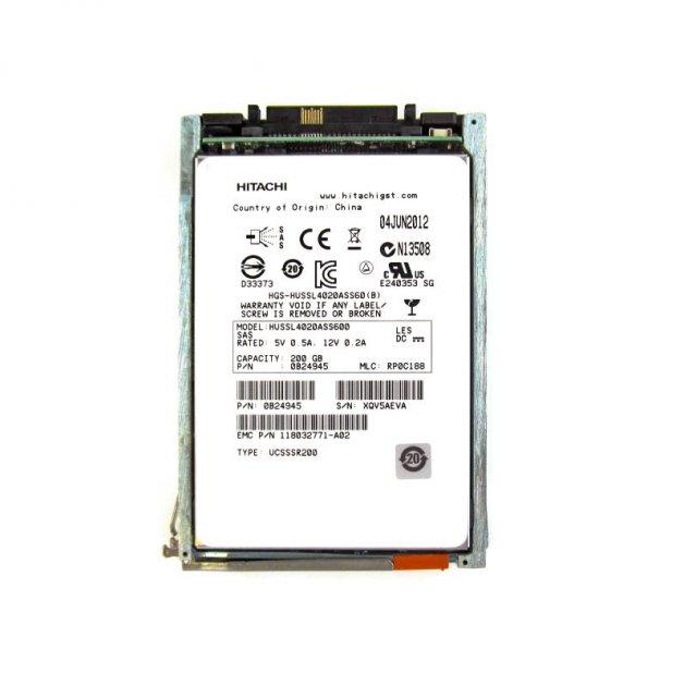 SSD EMC 200GB 2.5in SAS SSD for VNX (005050502) Refurbished - изображение 1