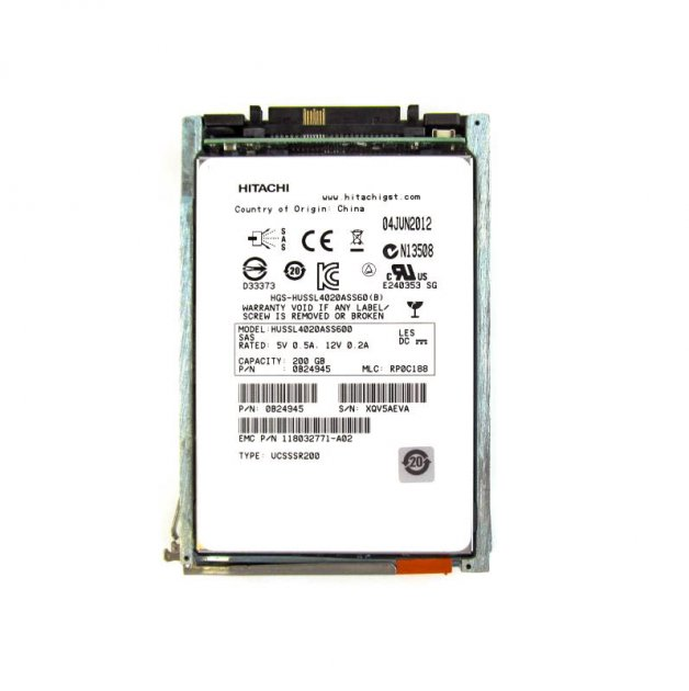 SSD EMC 200GB 2.5 in SAS SSD for VNX (V4-2S6FX-200) Refurbished - зображення 1