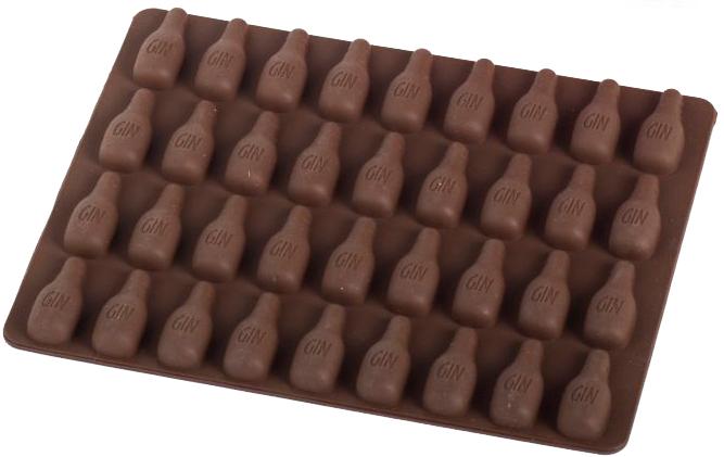 Силиконовая форма для шоколада MYS Бутылка Коричневая (MYS-48259) - изображение 1