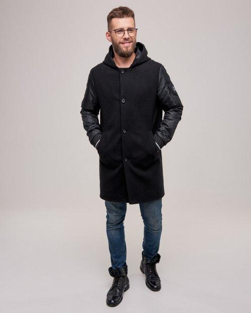 Чоловіче пальто DР-01 Riccardo 48черный - зображення 1