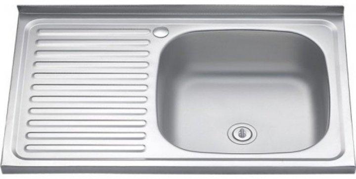 Накладна кухонна мийка з нержавіючої сталі Platinum 8050 Сатин 0,5 Ліва/Права - зображення 1