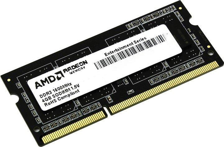 Оперативная память AMD SODIMM DDR3-1600 2048MB PC3-12800 (R532G1601S1S-U) - изображение 1