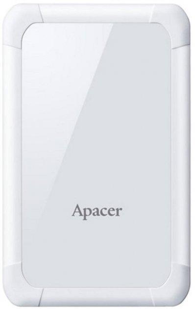 """Жорсткий диск Apacer AC532 1TB 5400rpm 8MB AP1TBAC532W-1 2.5"""" USB 3.1 External White - зображення 1"""