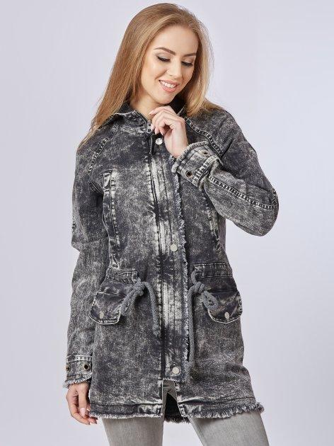 Джинсовая куртка Mila Nova Q-14 44 Черная (2000000011646) - изображение 1