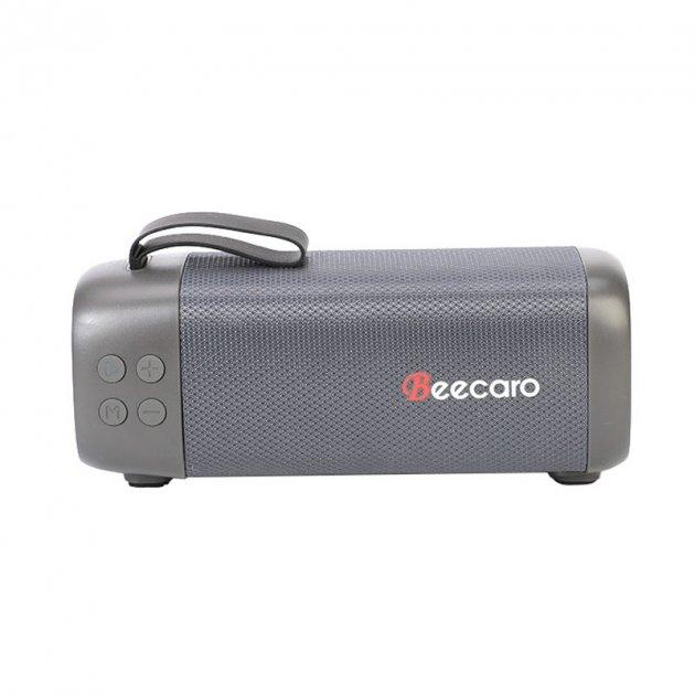 Bluetooth колонка портативная Beecaro GF401, серая - изображение 1