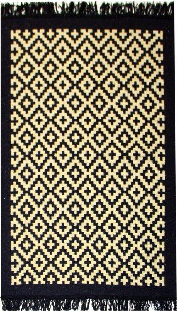 Ковер IzziHome Lara LR01 Siyah Sari 80 х 125 (2200000552365) - изображение 1