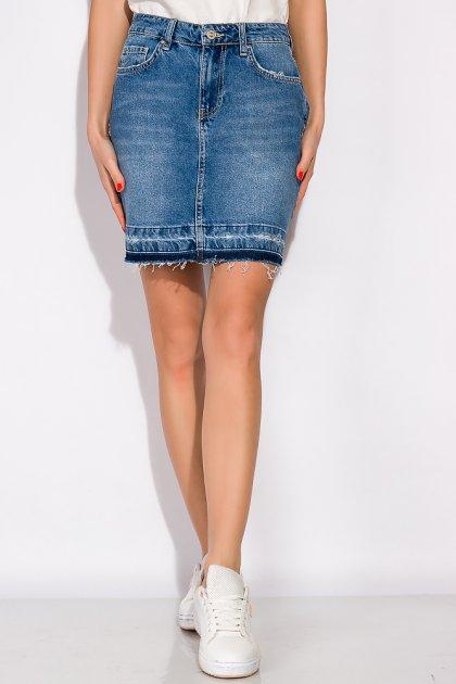 Спідниця джинсова 148P084 (Світло-синій) T&M M Розмір колір Світло-синій - зображення 1