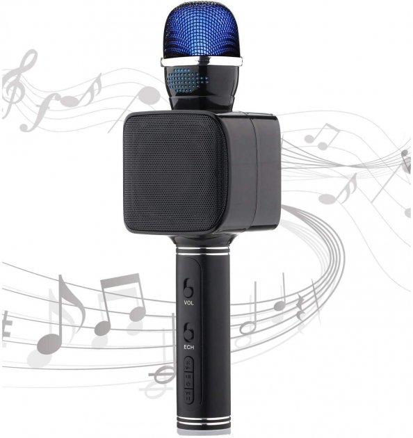 Бездротової Bluetooth мікрофон караоке NBZ Magic Karaoke YS-68 LED 2 динаміка з мембраною низьких частот Black - зображення 1