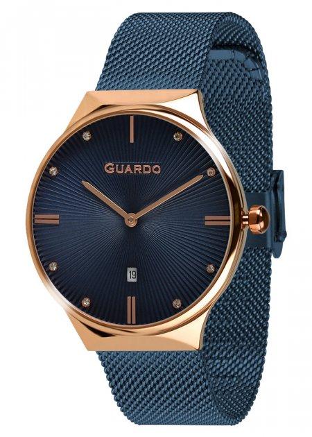 Годинники жіночі Guardo 012473-(1)-6 сині - зображення 1