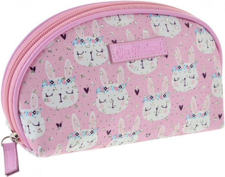 Косметичка Yes Weekend Rabbits 1 отделение Белый с розовым (532650) - изображение 1