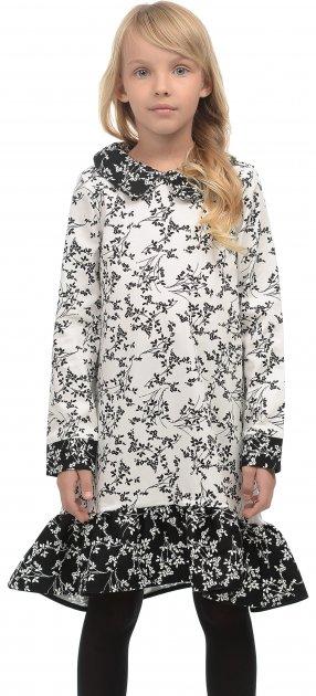 Платье ANDRE TAN Kids K30006 104 см Бело-черное (7771000072573) - изображение 1