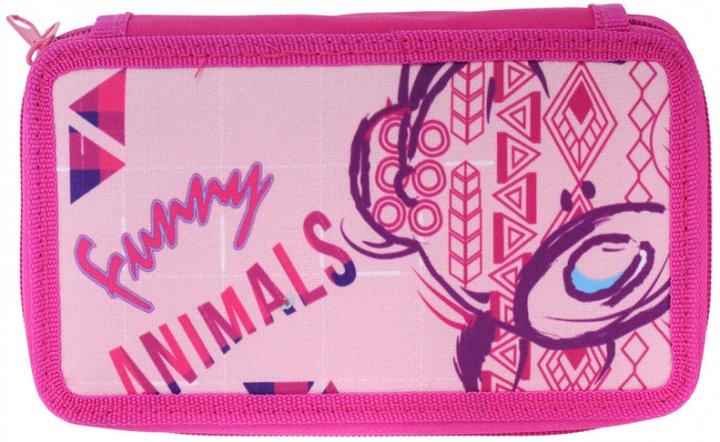 Пенал Class Funny Animals 2 отделения с наполнением (99603/8591662996036) - изображение 1