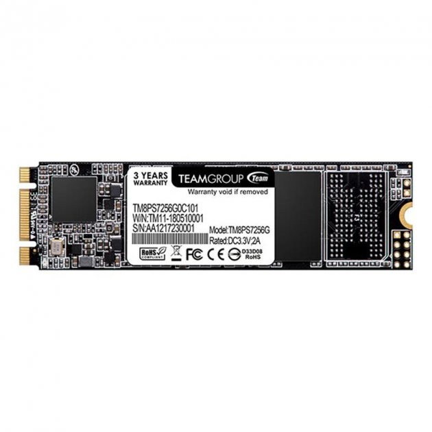Накопичувач SSD 256GB Team MS30 M. 2 2280 SATAIII TLC (TM8PS7256G0C101) - зображення 1