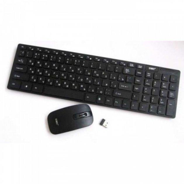 Російська бездротова клавіатура з мишкою UKC k06 з адаптером - зображення 1
