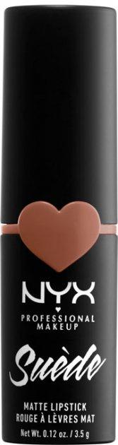 Помада для губ NYX Professional Makeup Suede Matte Lipstick 01 Fetish (800897170646) - изображение 1
