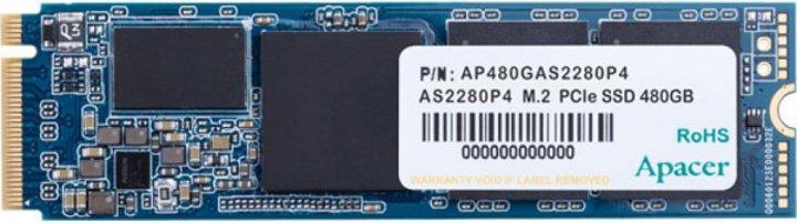 Apacer AS2280P4 480GB NVMe M.2 2280 PCIe 3.0 x4 3D NAND TLC (AP480GAS2280P4-1) - зображення 1