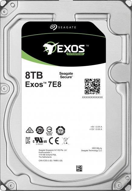 """Жесткий диск Seagate Exos 7E8 512E 8TB 7200rpm 256MB ST8000NM000A 3.5"""" SATA III - изображение 1"""