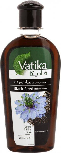 Масло для волос Dabur Vatika Обогащенная Черным тмином 200 мл (6291069704037) - изображение 1