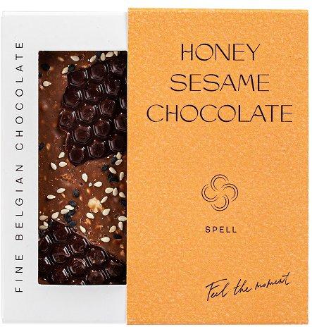 Шоколад Spell Dark & Milk Chocolate with Honey flavor & Sesame 100 г (4820207310780) - изображение 1