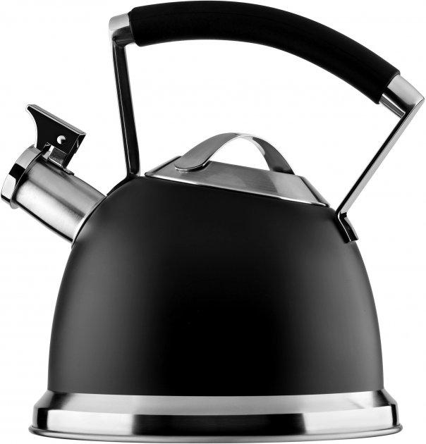 Чайник для плиты Ardesto Black Mars 2.5 л Черный (AR0747KS) - изображение 1