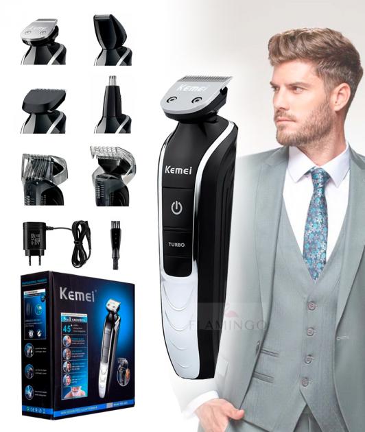 Машинка для стрижки волос и бороды Kemei KM 1832 триммер - изображение 1