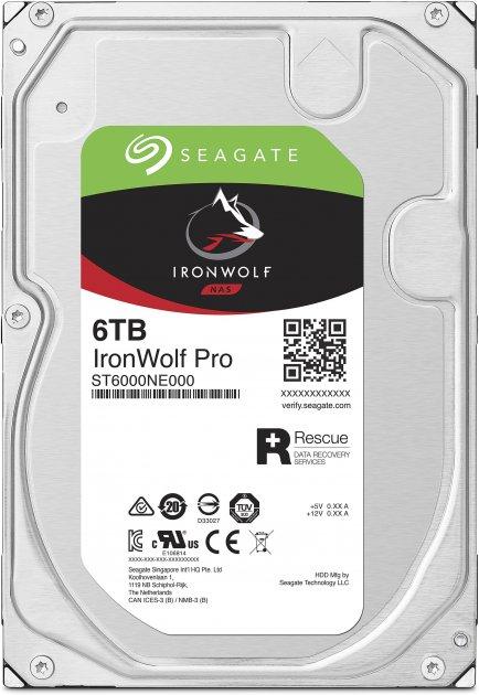 "Жорсткий диск Seagate IronWolf Pro HDD 6TB 7200rpm 256MB ST6000NE000 3.5"" SATAIII - зображення 1"