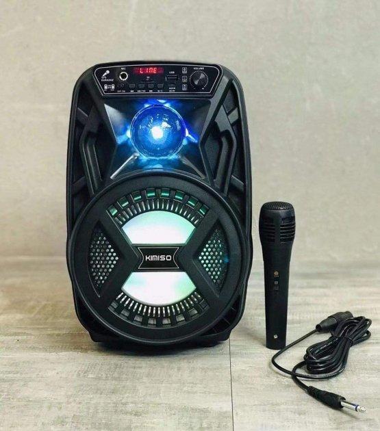 """Аккумуляторная беспроводная Bluetooth колонка Kimiso QS-3603 (6.5"""") с микрофоном и подсветкой - изображение 1"""
