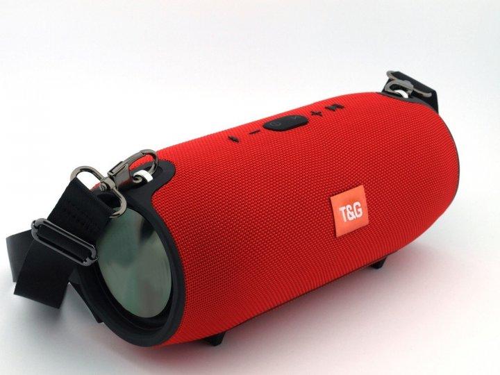 Акустическая мощная портативная влагозащищенная система Bluetooth колонка T&G Xtreme Bass, переносная c функцией громкая связь и FM радио. Красная - изображение 1