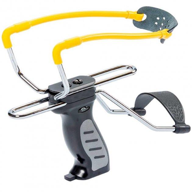 Рогатка з упором Man Kung SL06BK, чорний/жовтий - зображення 1