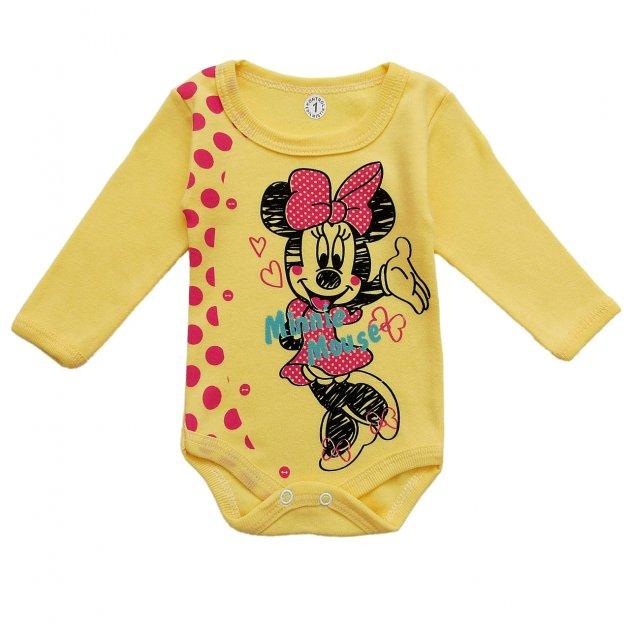 Боди Minnie Mouse Destino для девочки 56 см Желтый 8328 - изображение 1