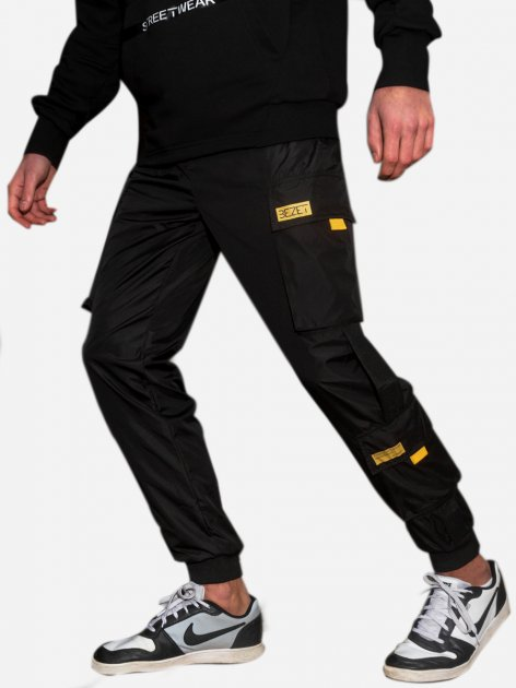 Спортивні штани BEZET Hype Black'20 1411 S Чорні (ROZ6400031858) - зображення 1