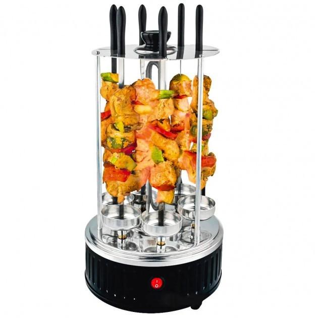 Электрическая шашлычница кухонная Crownberg CB 7416 1000 Вт 6 шампуров - изображение 1