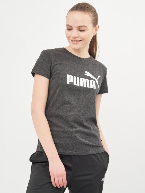 Футболка Puma Ess Logo Tee 58677407 S Dark Gray Heather (4063697272293) - изображение 1