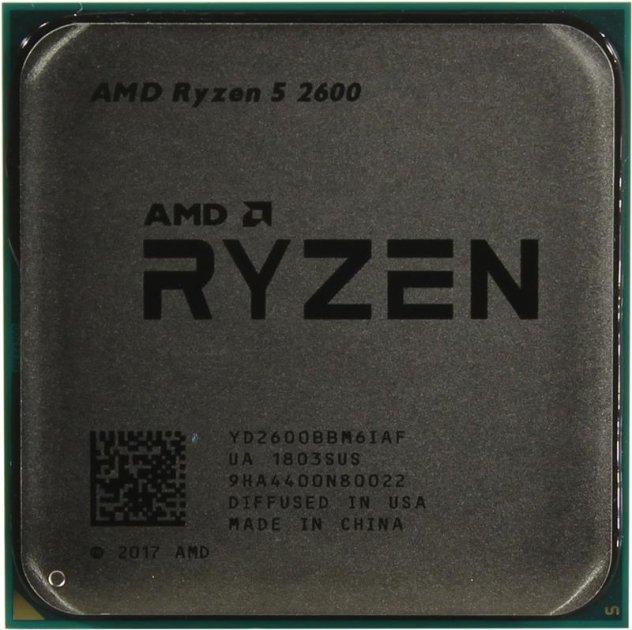 Процесор AMD Ryzen 5 2600 (3.4GHz 16MB 65W AM4) Tray (YD2600BBM6IAF) - зображення 1
