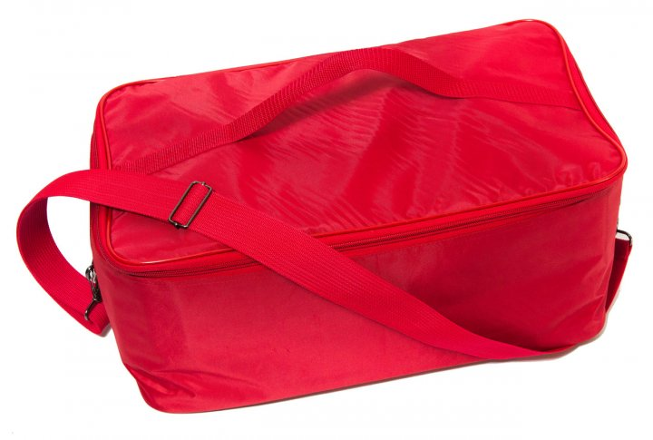 Сумка медична (45 х 25 х 20 см) колір червоний, з плечевим ременем - изображение 1