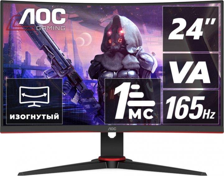 """Монітор 23.6"""" AOC C24G2AE/BK - зображення 1"""