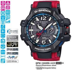 Годинник CASIO GPW-1000RD-4AER - зображення 1