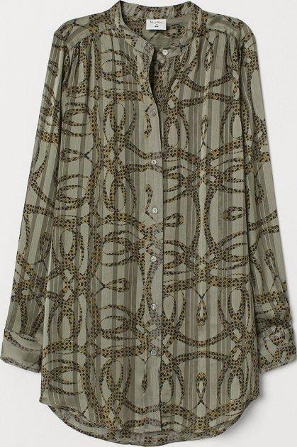 Блузка H&M 791089 38 Черная (LD2000000736259) - изображение 1