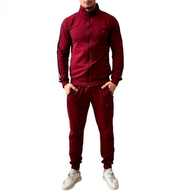 Спортивний костюм чоловічий 106 бордо XL - изображение 1