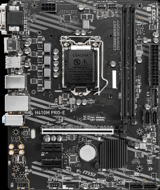 Материнська плата MSI H410M Pro-E (s1200, Intel H410, PCI-Ex16) - зображення 1