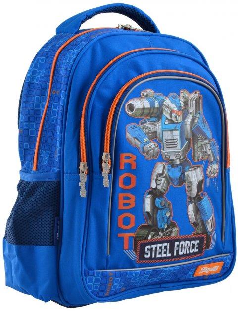 Рюкзак школьный 1 Вересня S-22 Steel Force для мальчиков 0.68 кг 29х37х12 см 12 л (556345) - изображение 1