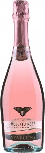 Вино игристое Novellina Moscato Rose розовое сладкое 0.75 л 6% (8004300362624) - изображение 1