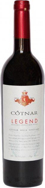 """Вино Cotnar """"Легенда Закарпаття"""" червоне десертне 0.75 л 9-13% (4820238710832) - зображення 1"""