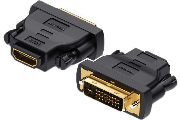 Переходник Vention HDMI F - DVI M Черный (ECDB0) - изображение 1
