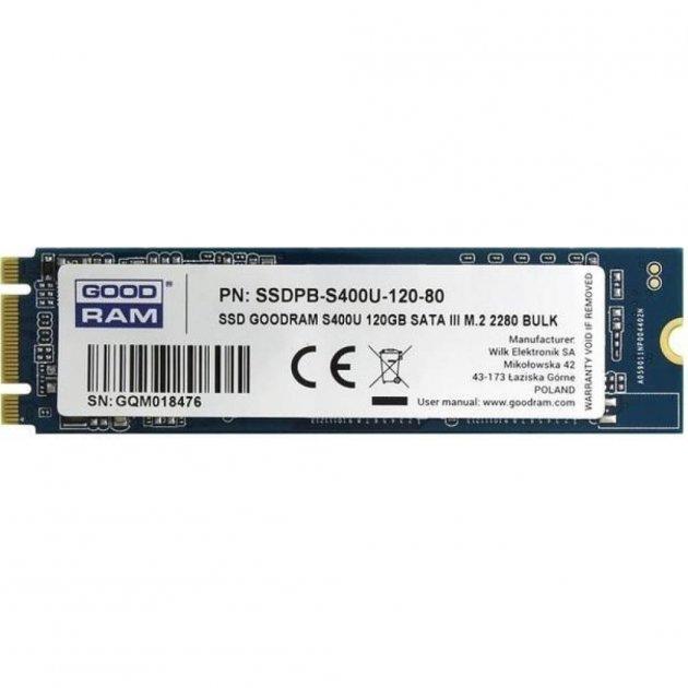 Накопичувач SSD M. 2 2280 120GB GOODRAM (SSDPR-S400U-120-80) - зображення 1
